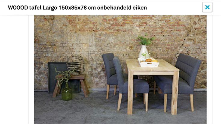 Eetkamerstoelen en tafel van WOOOD | Karwei