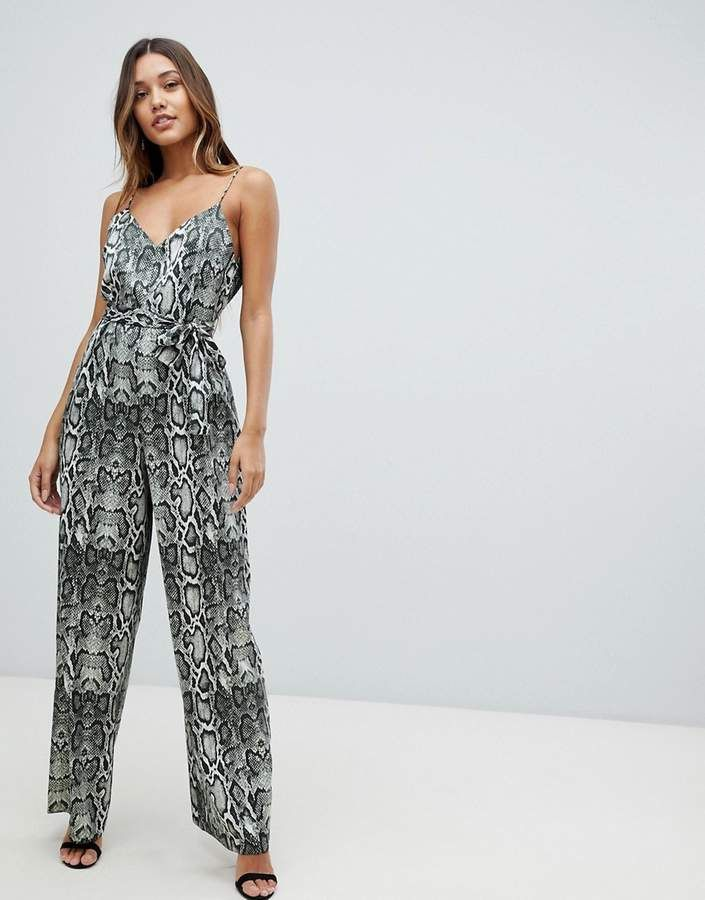 c53396e3f537 ASOS DESIGN cami jumpsuit with wide leg in snake print - Check it out now -  In Stock  women  fashion  outfits