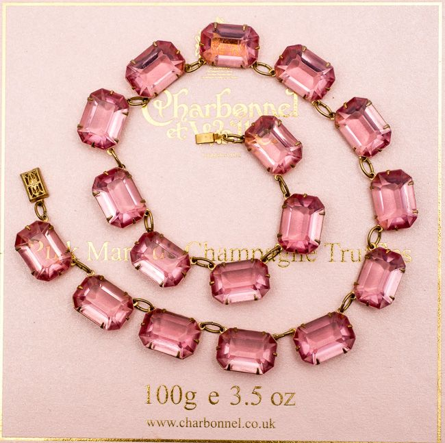 Art Deco Rose Colored Necklace