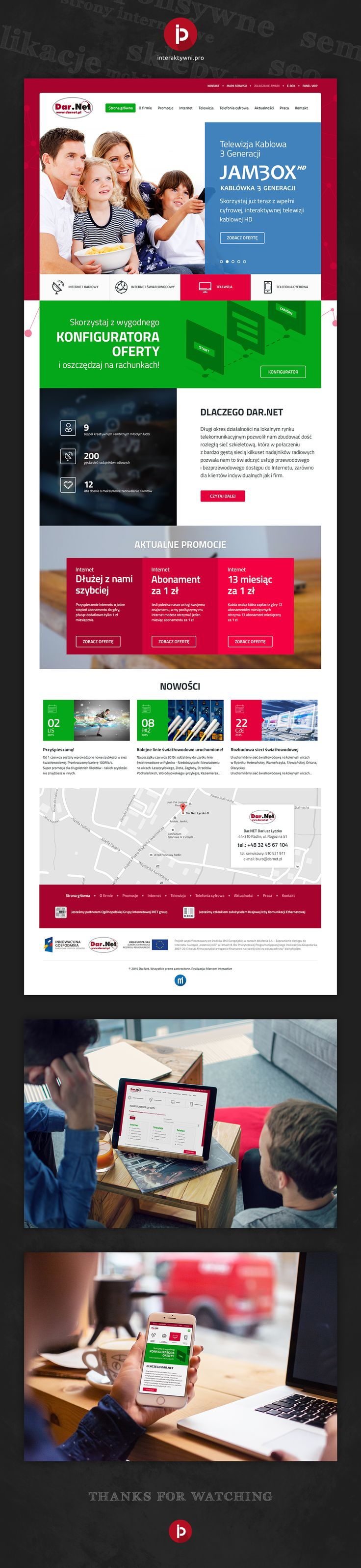 Responsywna strona internetowa dostawcy internetu i usług telekomunikacyjnych na śląsku - firmy Darnet. // Responsive website of internet provider and telecommunications services in Silesia - the company Darnet. #responsywnestronyinternetowe #interaktywni #stronyinternetowe