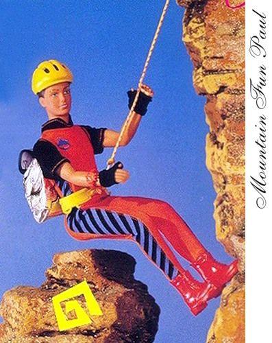 Молд №3 В целом очень похож на №2, но тут более густые брови.  Hasbro 1994 Mountain Fun Paul Art. Nr 18433