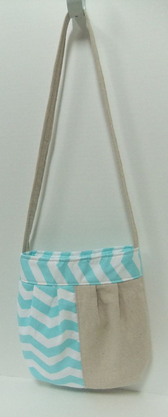 Summer chevron purse, pocket purse with magnetic closure, teal chevron purse