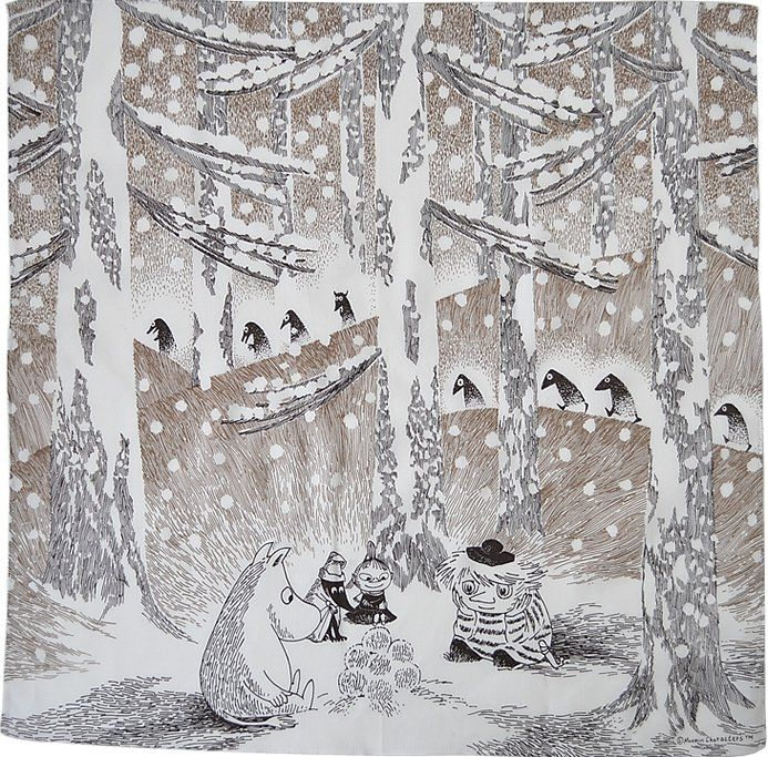 Illustration from the book 'Moominland Midwinter' (1957) by Finnish author and artist Tove Jansson