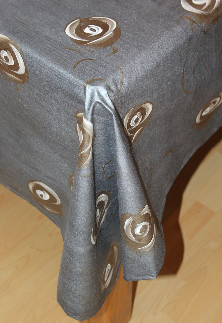 Hand painted by Dana - Deep Dark silver with bronze and white roses and a touch or turquoise - www.dmgdesigns.co.za or Facebook DMG Designs