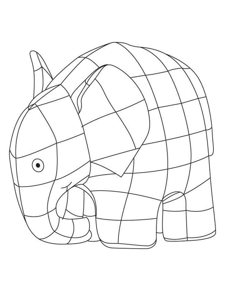 elmer elephant coloring sheet download free elmer. Black Bedroom Furniture Sets. Home Design Ideas
