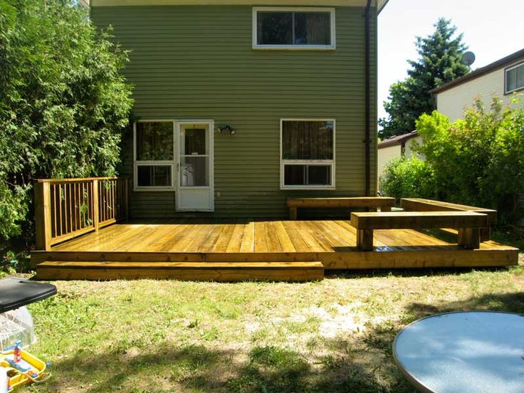 25 best ideas about small backyard decks on pinterest Small deck ideas
