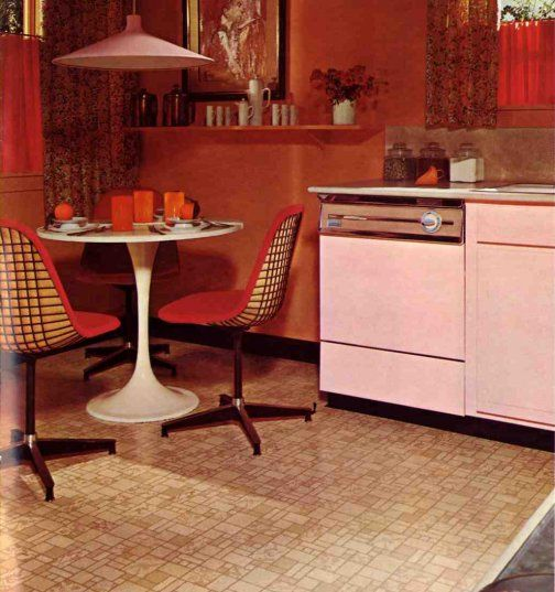17 best images about different eras on pinterest vintage kitchen 60s kitchen and 70s kitchen - Retro flooring kitchen ...
