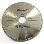 Disco Para Serra Mármore D38277 Eletrolítico - Makita - Disco Diamantado Eletrolítico.     Medidas: Diâmetro 110 MM     Furo: 20 MM     Aplicação: Mármores, refrigeração úmido. www.colar.com