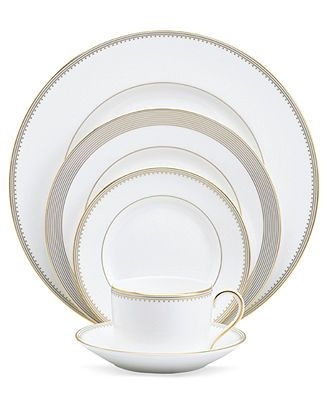 "Vera Wang Wedgwood ""Golden Grosgrain\"" 5-Piece Place Setting"