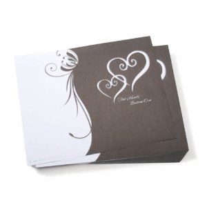 """""""Two Hearts Become One"""" Wedding Program Paper - 100 Sheets"""