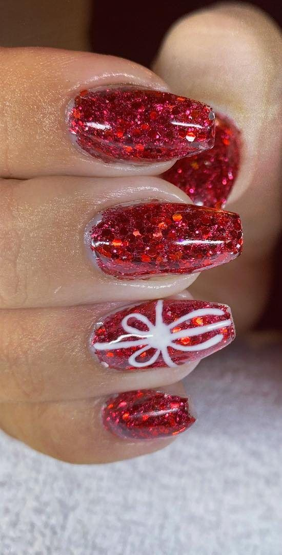 AMAZING CHRISTMAS NAILS DESIGNS For New Year PArty for 2019 Part 7