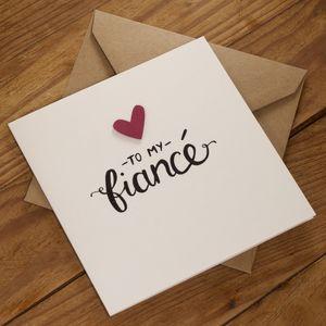 To My Fiancé Card