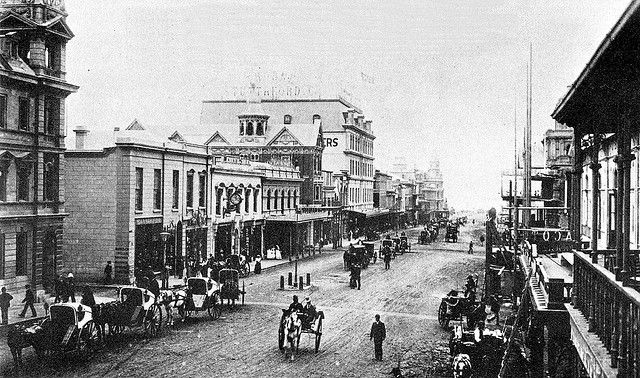 Looking Down Adderley Street, 1897 - busy but still unpaved