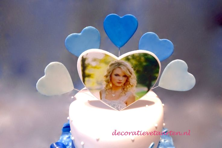 Taart 'Met foto van Taylor Swift' - detail 1