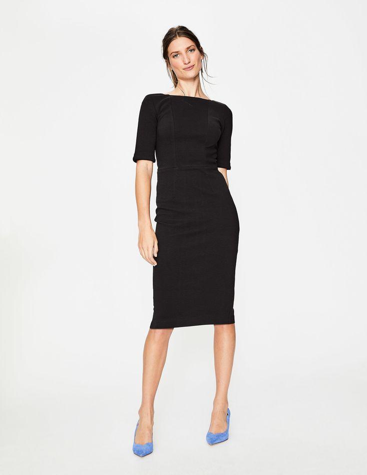 Kaia Ottoman Dress J0139 Smart Day Dresses at Boden