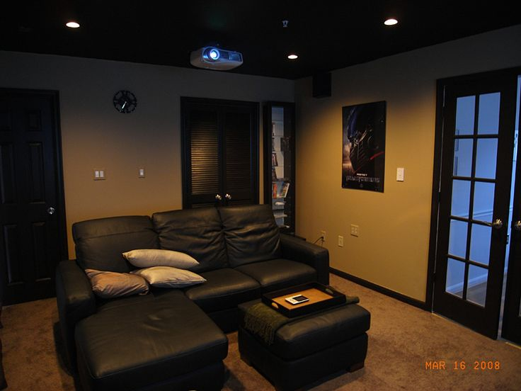 Small Home Theater | Home Theater Ideas | Pinterest | Small Rooms, Dark  Walls And Wall Colors Part 34