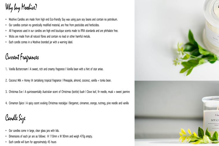 Moohive Flyer | Soy Candles | Love Lottie Photography  https://www.facebook.com/moohivecandles/