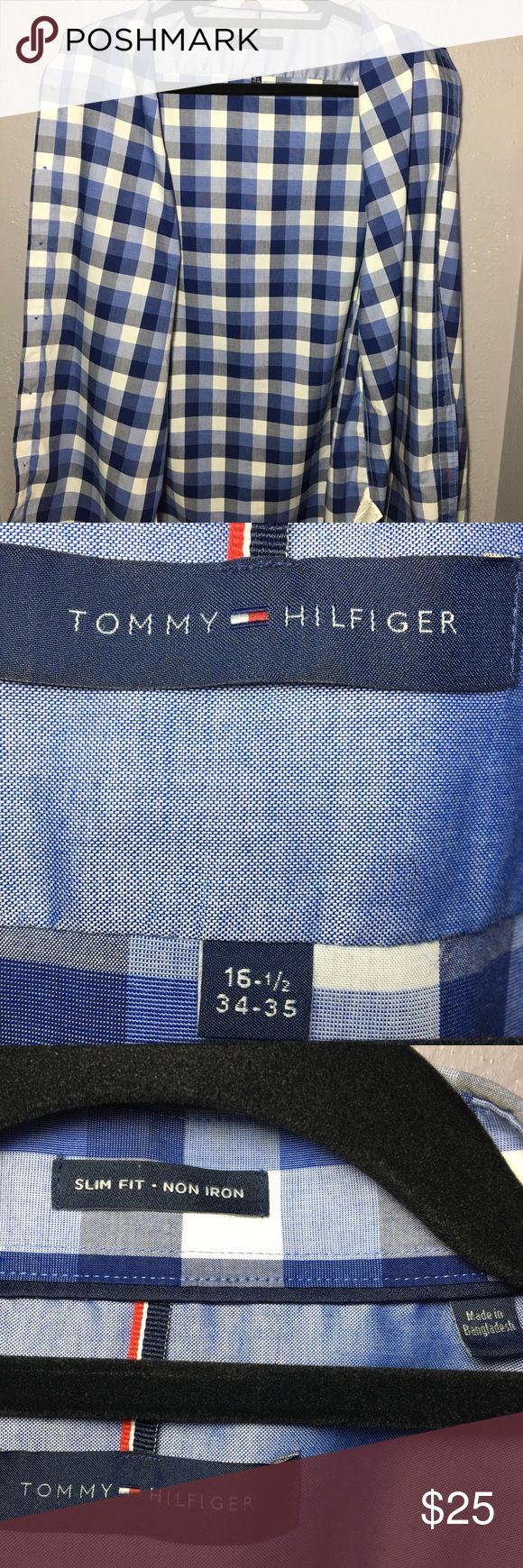 Tommy Hilfiger Slim Fit Non-Iron Shirt Sexy looking shirt at an unbeatable price, go out and break some necks 😉 Tommy Hilfiger Shirts Dress Shirts