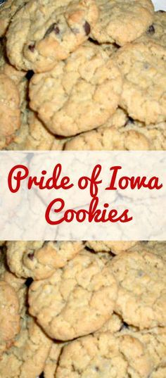 Pride of Iowa Cookies - old-fashioned oatmeal cookies