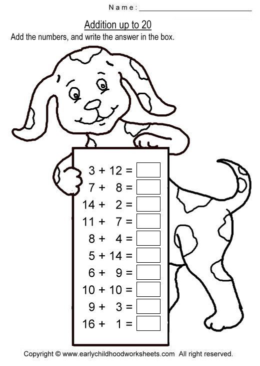 100 ideas to try about Addition math – Addition Facts to 20 Worksheets