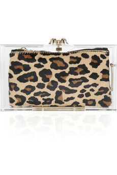 leopard & lucite-love this!: Charlotte Olympia, Bag, Pandora Classic, Clutches, Olympia Pandora, Classic Perspex, Leopard