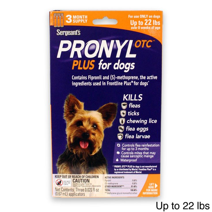 Sergeants Pronyl OTC Plus Flea/ Tick Treatment for Dogs