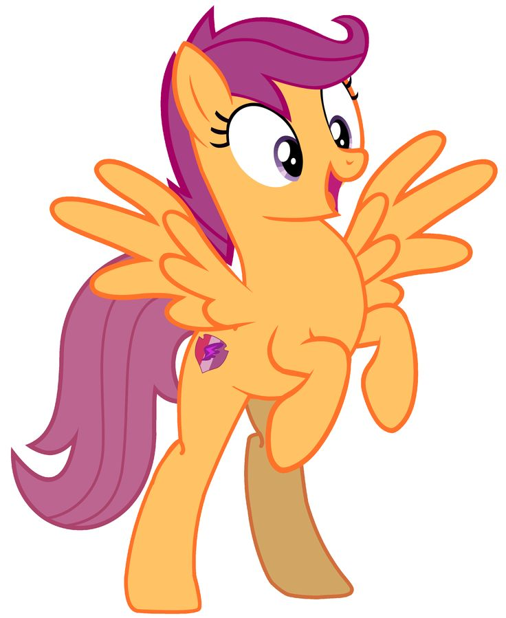 My Little Pony - Scootaloo (Shocking Standing Pose) by RamseyBrony on @picsart