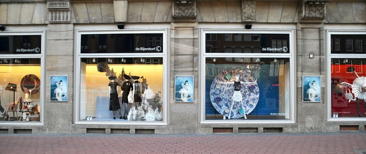 Only 3 more nights until we open. And in honour of this, the Bijenkorf department store will be celebrating today with a number of special Rijksmuseum window displays.