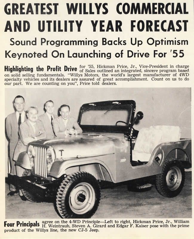 1955 01 Kaiser Willys News Cj5 Sales Willys Jeep Willys Jeep Cj5