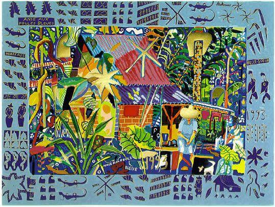 SILKSCREENS - MICHAEL ADAMS ART GALLERY (SEYCHELLES) - Artist, Silkscreens, Paintings