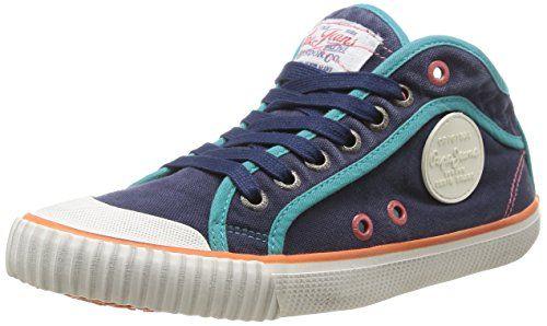 Pepe Jeans London INDUSTRY BASIC Damen Sneakers, Blau (588OCEAN), 36 - http://schmuckhaus.online/pepe-jeans/pepe-jeans-london-industry-basic-damen-sneakers