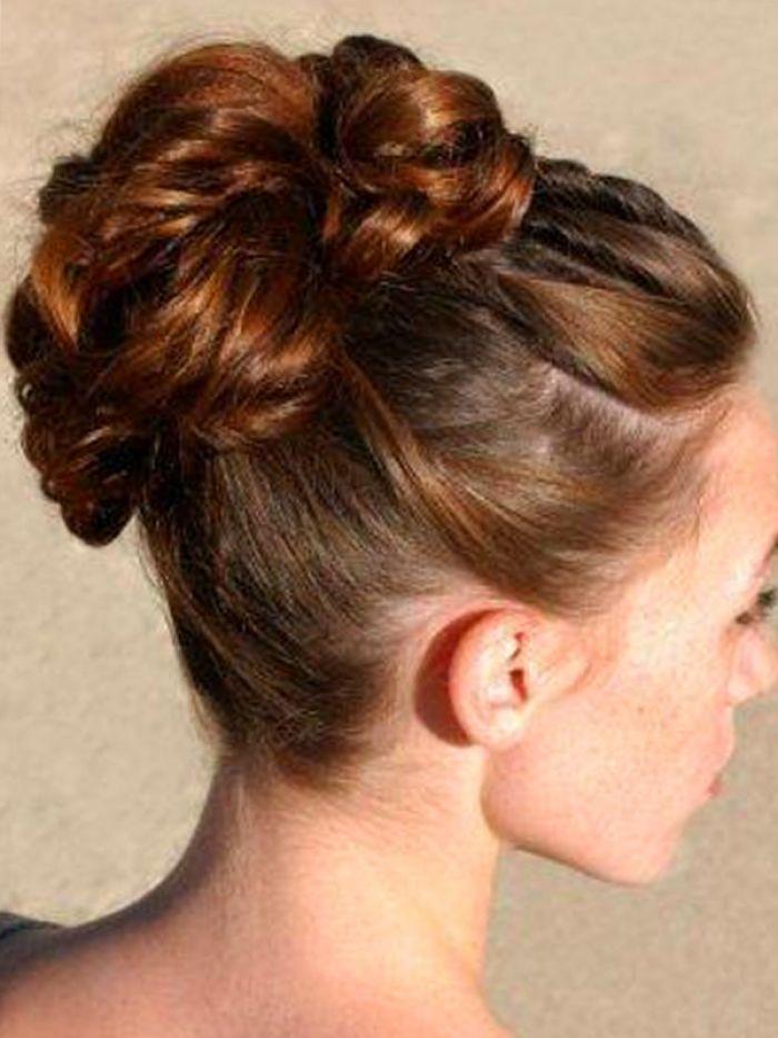 Wedding Hairstyles High Bun Updos For Medium Length Hair Design