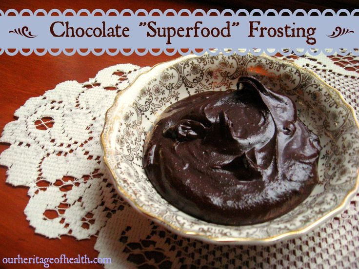 """Chocolate """"Superfood"""" Frosting - No exotic """"superfood"""" ingredients required! Just plain simple real food goodness :)"""