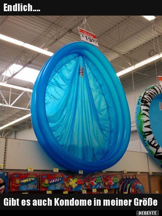 Endlich…. Gibt es auch Kondome in meiner Größe..  # Humor