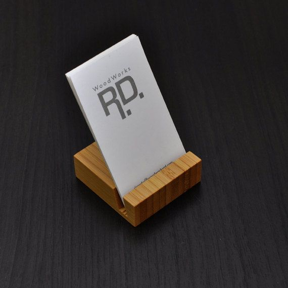 Business card holder Vertical business card by