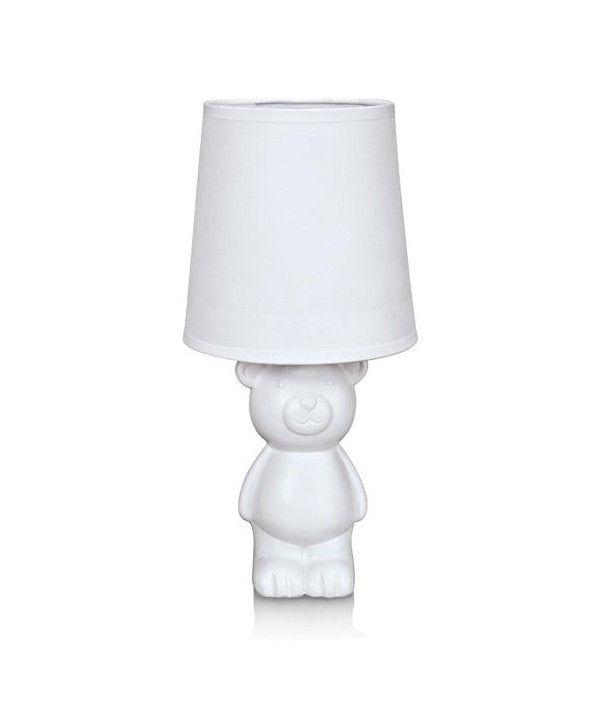 BEAR lampka stołowa 1x40W E14 biały - www.koma.lux.pl