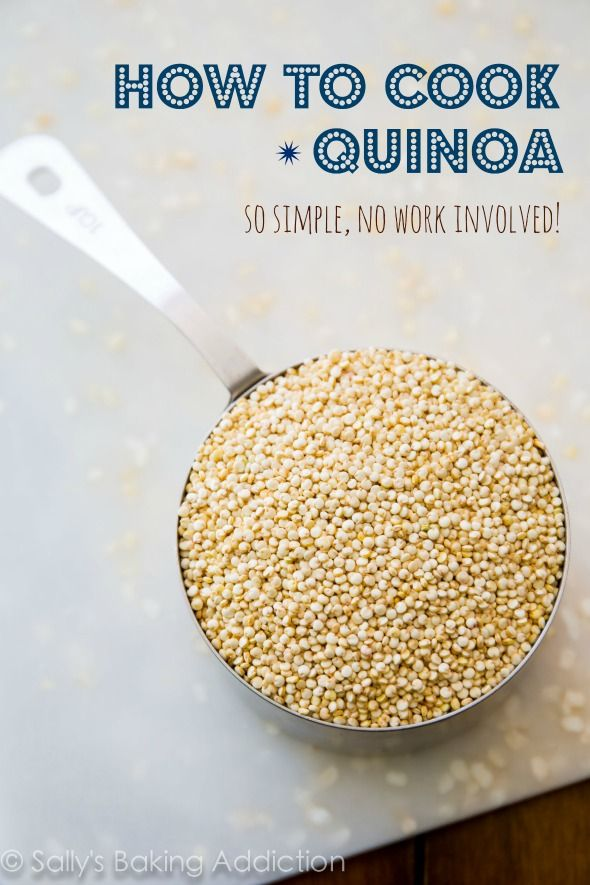 How to Cook Quinoa - it's so simple, there's hardly any work involved! Step-by-step on sallysbakingaddiction.com