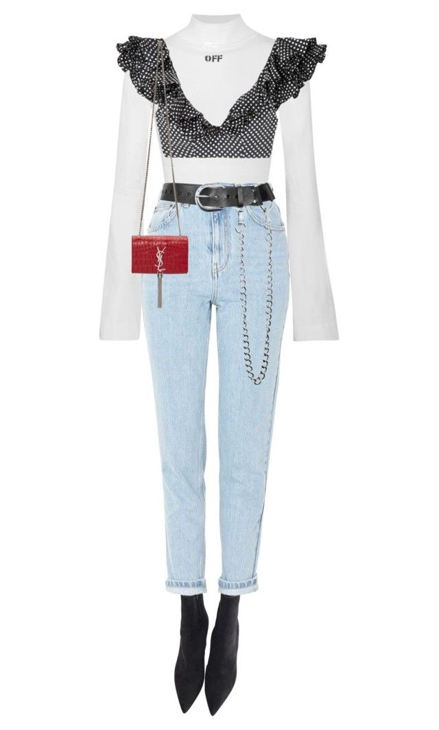 """""""Butterfly"""" by sofiaskippari ❤ liked on Polyvore featuring Gianvito Rossi, Off-White, Topshop, Zimmermann, Zana Bayne and Yves Saint Laurent"""