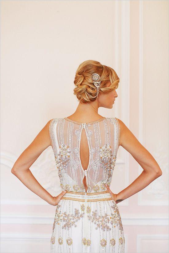"""Primrose"" beaded gown"