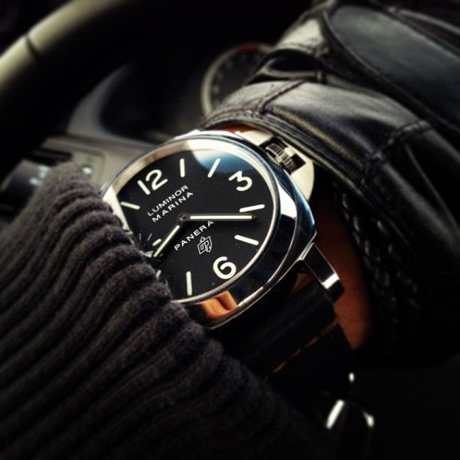 dark panerai luminor marina