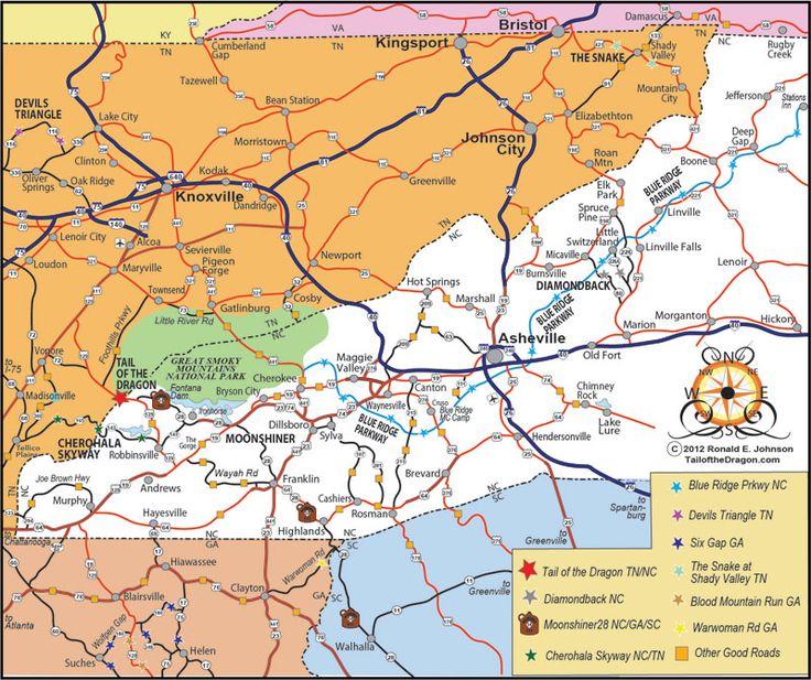 North Carolina Georiga Amp Tennessee Ride Map  Gear Head