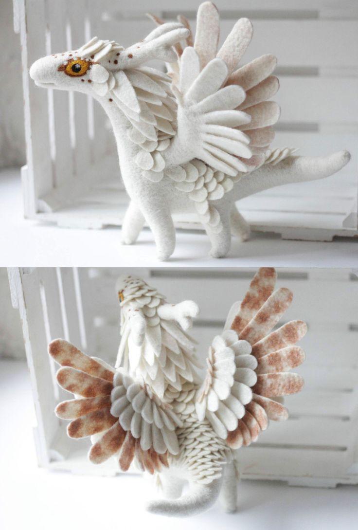 Felt Dragons by Alena Bobrova on Etsy