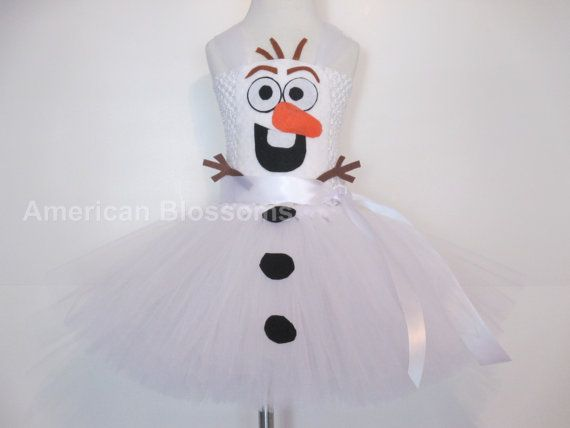 Olaf Tutu Dress Baby Girls Toddler Olaf by AmericanBlossoms