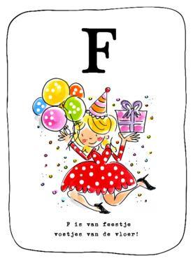 F is van feestje, voetjes van de vloer kaart van Blond-Amsterdam