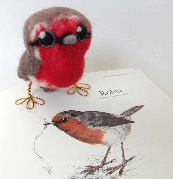 Oh my, how cute are you!?!   #bird #robin #felt