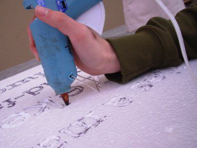 easy way to carve letters into styrofoam