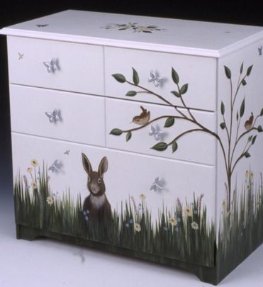 Jeri's Organizing & Decluttering News: Storage to Make You Smile: Hand-Painted Furniture