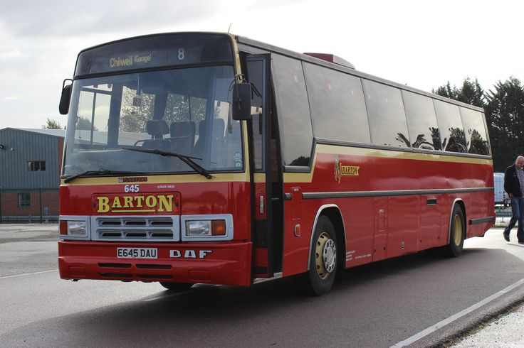 Barton - Chilwell depot 25/9/2016 - Plaxton bodied DAF MB230, 645