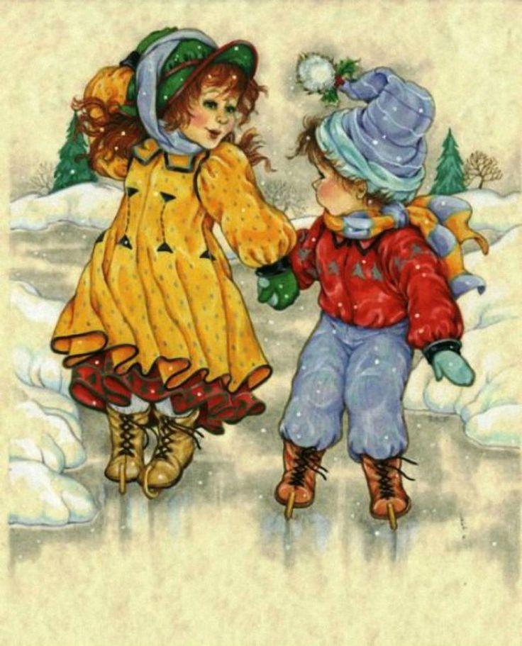 Открытки дети зимой, открытка спасибо прикольные