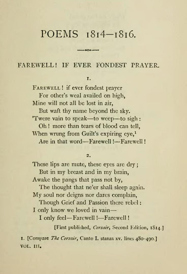 One of my FAVOURITE poems <3 Lord Byron.